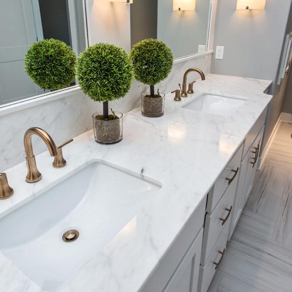 Calcutta Gold Marble Bathroom Countertop