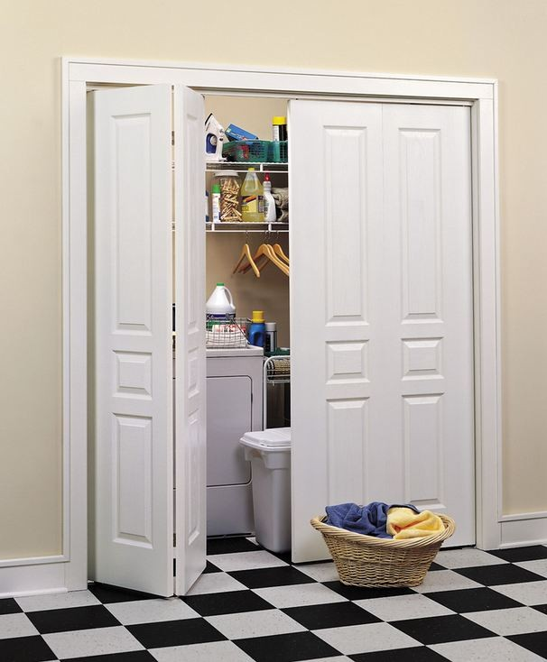 Bi-Fold Doors To Conceal Laundry