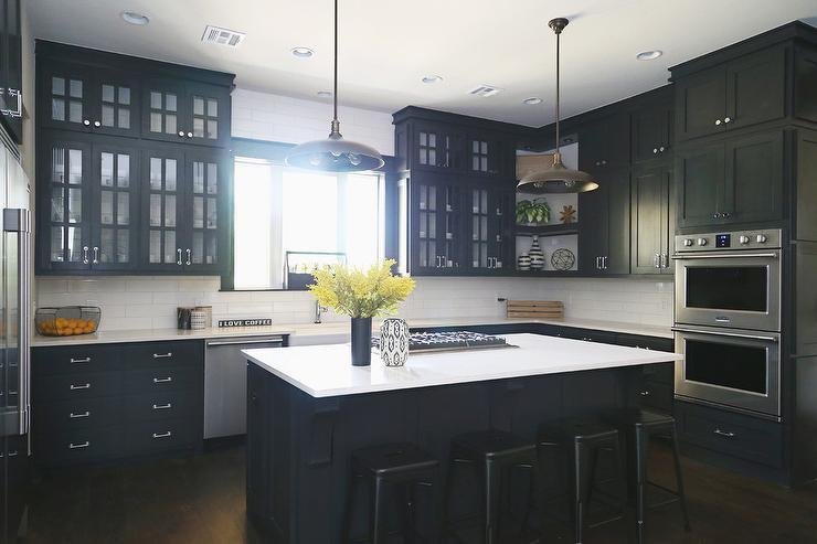 Black Kitchen Cabinets - Iowa Remodels