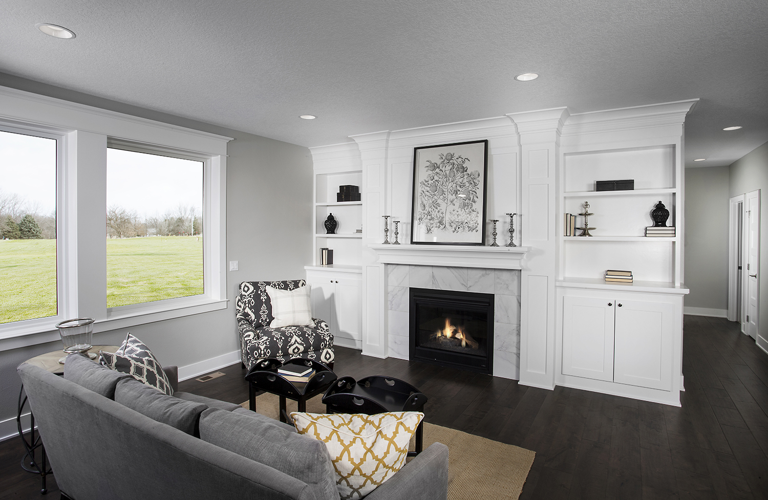 Fireplace With White Built Ins Surrounding Iowa Remodels