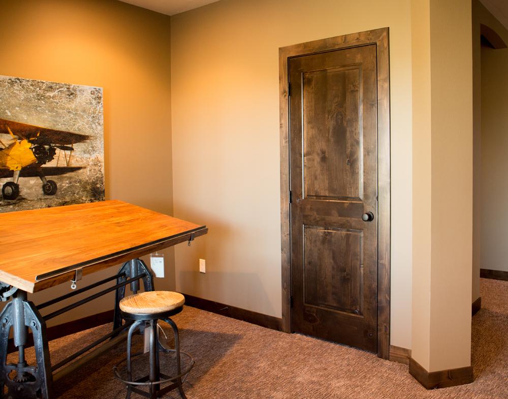 Knotty Alder Wood Doors | Shapira Builders |Knotty Alder Door Trim