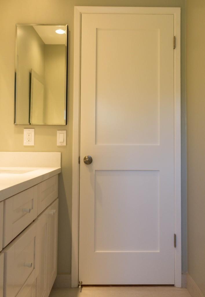 White Interior 2 Panel Shaker Door Iowa Remodels